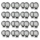 Nilight LED Light Bar 32PCS 27W Round Spot Driving Lamp Waterproof Jeep Off Road Fog Lights