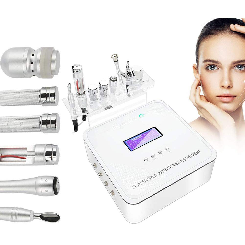 Multifunctional Beauty Facial Machine,6 in 1 Hydro Oxygen Jet Lifting Spray Skin Rejuvenation Diamond Dermabrasion Machine for Anti Aging Weight Loss Wrinkle Removal Skin Care Salon Equipment by riteu