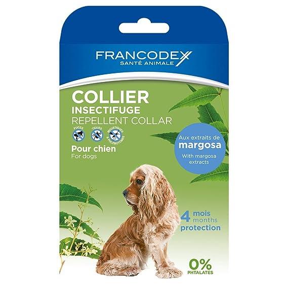 Francodex Collar Repelente Natural para Perros mas 20 kg: Amazon.es: Productos para mascotas