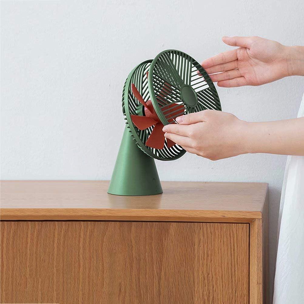 Mini-desktopventilator heeft geen geluid, ingebouwde 4000mah batterij met grote capaciteit, oplaadbare ventilator, geschikt voor kantoor en thuis (groen) green d4DDXIi1