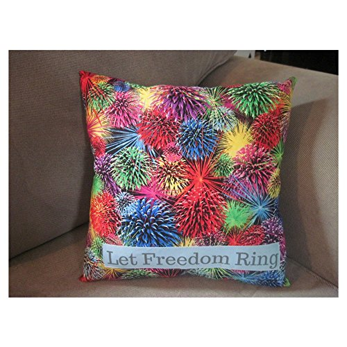 Patriotic Independence Day decor fourth of July fireworks pillow