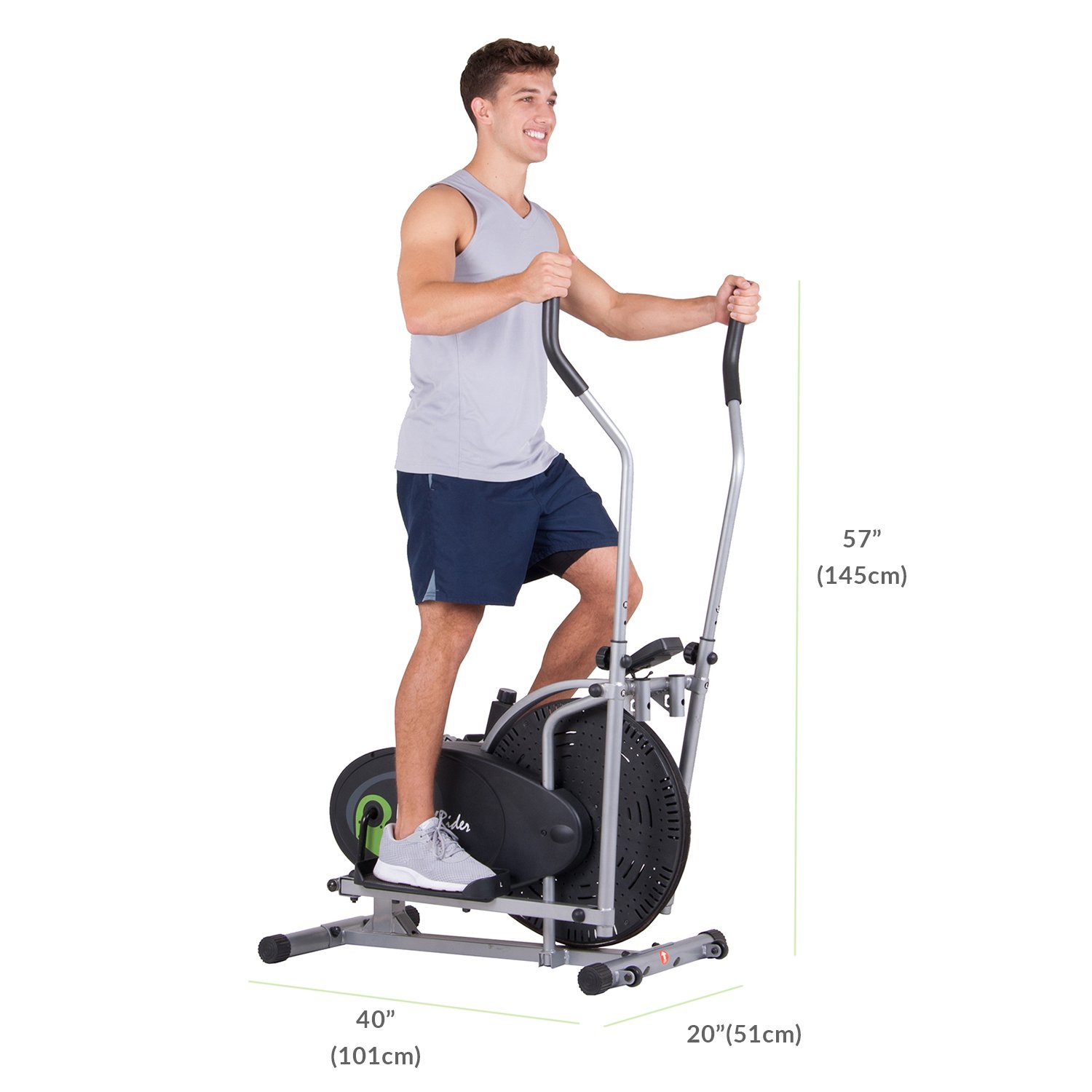Body Rider Fan Elliptical Trainer with Air Resistance System, Adjustable Levels and Easy Computer BR1830 by Body Max (Image #2)