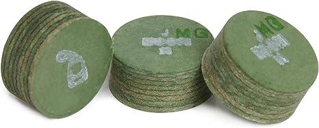 MOORI Jewel piscina billar cue tip – 1 pc – verde – 14 mm ...