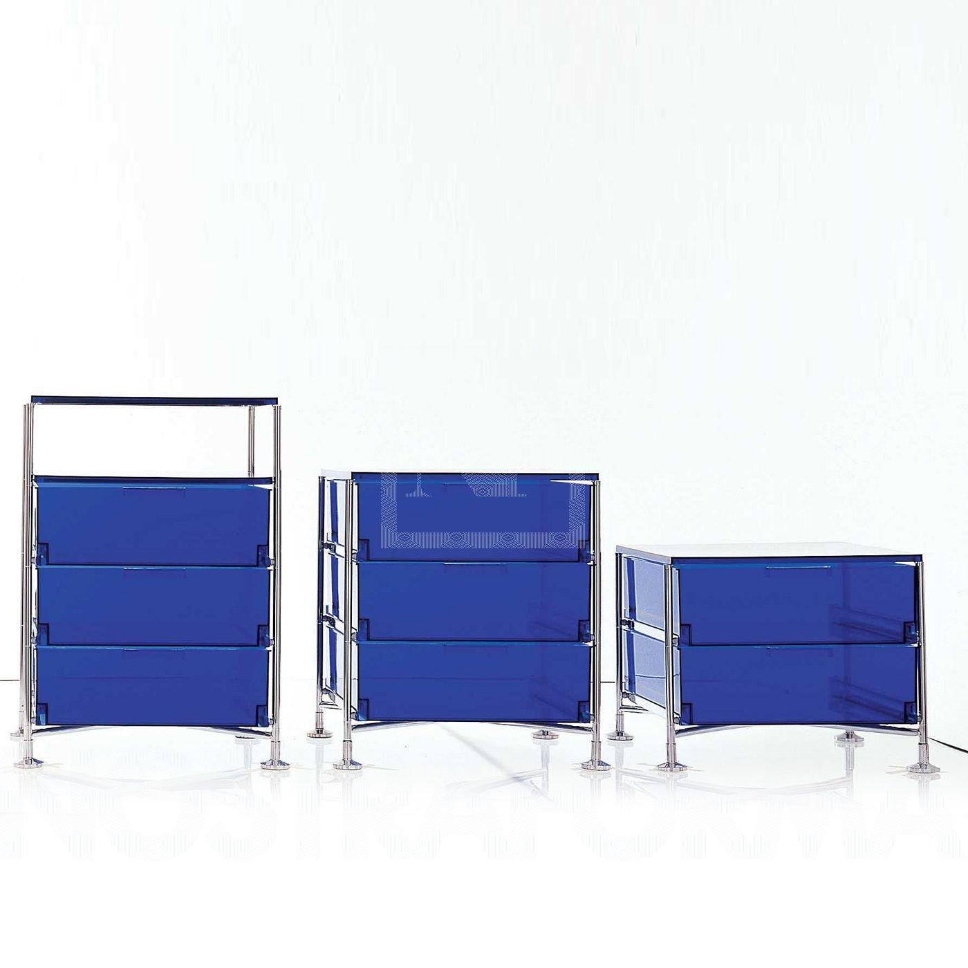 Kartell 2021L7 Container Mobil, 4 Schubladen, blau