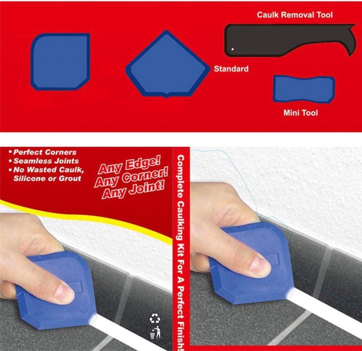 Verre Silicone Gel Mastic Angle Corner Spreader Spatule Racloir En Caoutchouc Ciment R/ésiduel Colle Enl/èvement Outil 4 pcs//ensemble Paperllong