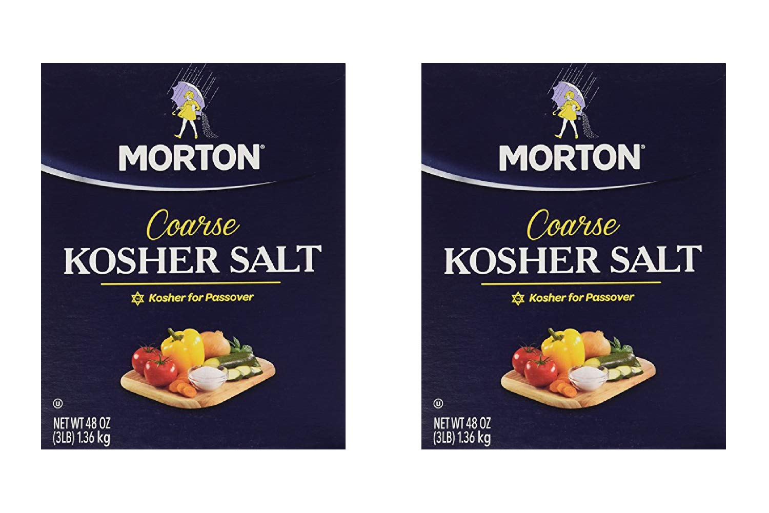 Morton Salt Kosher Salt, 48 Ounces (2 Pack)