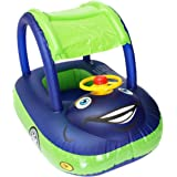 Qiao Niuniu Summer Steering Wheel Sunshade Swim Ring Car Inflatable Baby Float Seat Boat Pool Tools