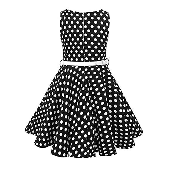 122dcbf630a Amazon.com  Girls 50s Audrey Hepburn Flower Vintage Swing Rockabilly Party  Dress Wedding Formal Short Dance Gown  Clothing