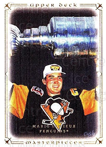 (CI) Mario Lemieux, Stanley Cup Hockey Card 2008-09 UD Masterpieces (base) 11 Mario Lemieux, Stanley Cup
