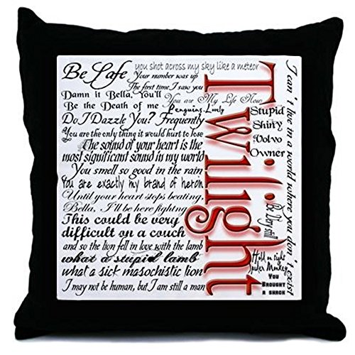 CafePress - Movie Twilight Quotes Gifts - Throw Pillow, Decorative Accent - Pillow Twilight Throw