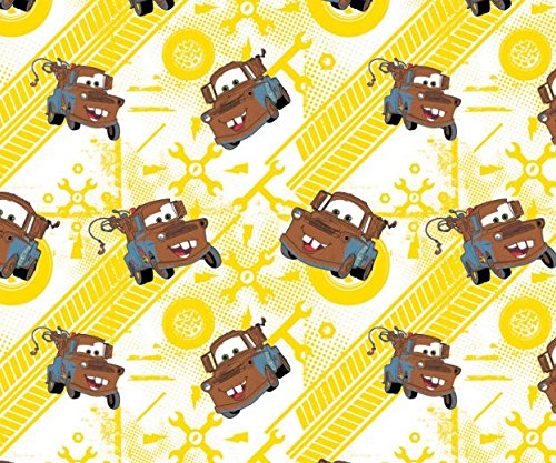 Disney Cars Tow Mater in Sunshine Fabric Sold by the -