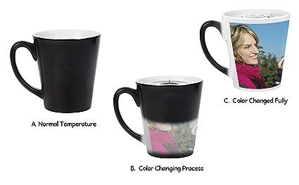 amazon com magic photo ceramic coffee mugs personalized custom