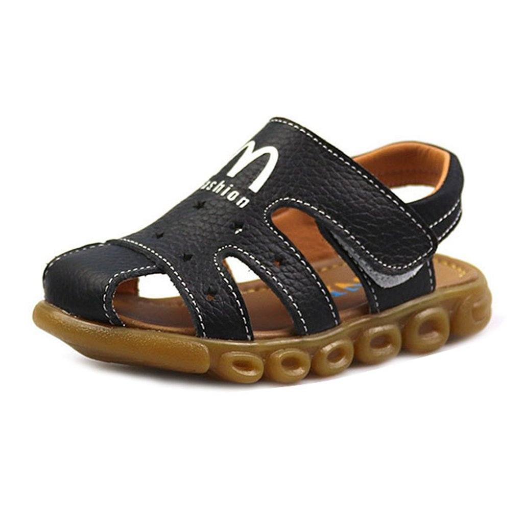 Boy's Girl's Leather Sandals Closed Toe Fashion Fisherman Casual Outdoor Sport Flats Shoes(Toddler/Little Kid)
