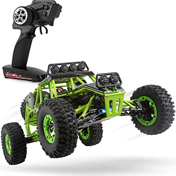 WLtoys RC Cars 1/12 Scale 2.4G 4WD High Speed Electric All Terrain Off-Road Rock Crawler Climbing Buggy RTR for Kids and Adults