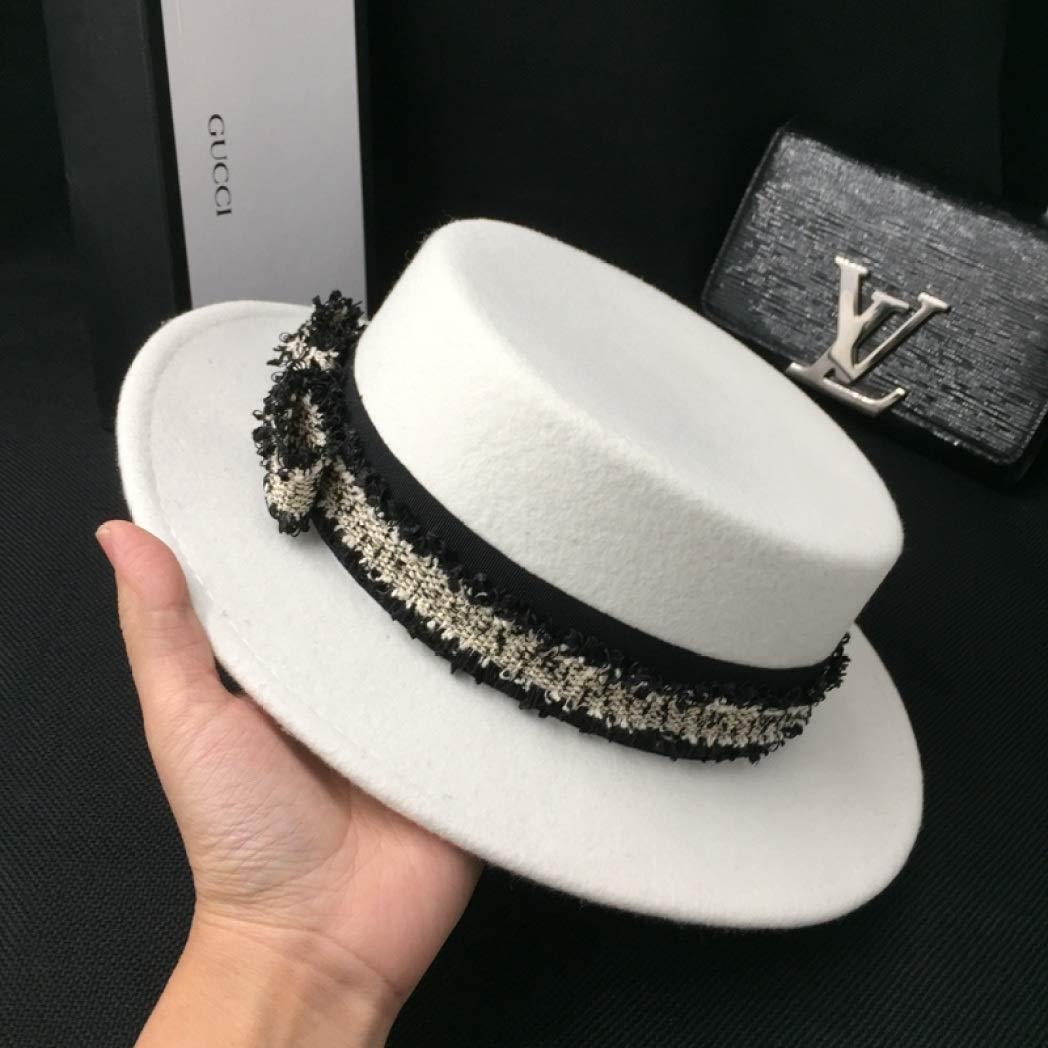 Fieltro de Lana Plano Ancho ala Sombreros de Fedora Clásico ...
