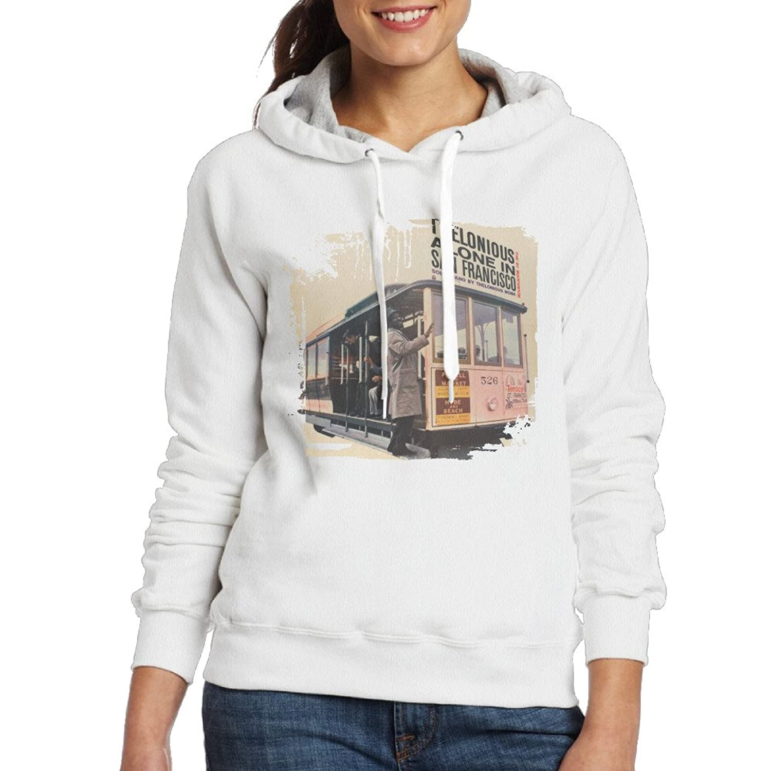Women's Slim Fit Thelonious Alone In San Francisco Hoodie
