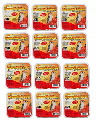Pine Tree Farms 3013 Hot Pepper Never Melt Suet Dough, 12 Ounce, 12 Pack ()