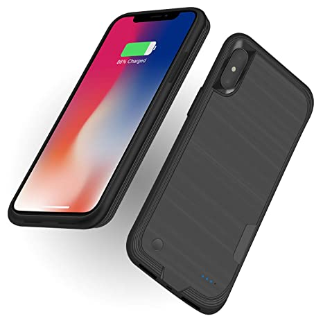 Amazon.com: Funda para iPhone X de 4000 mAh con cargador ...