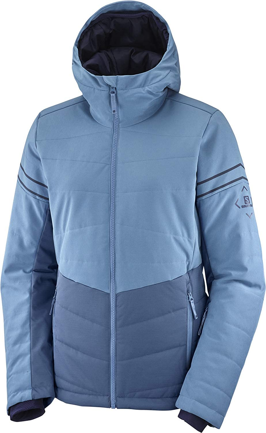 Salomon Edge Women's Ski Jacket Morn OFFicial store Icy Heather XX-Large Some reservation