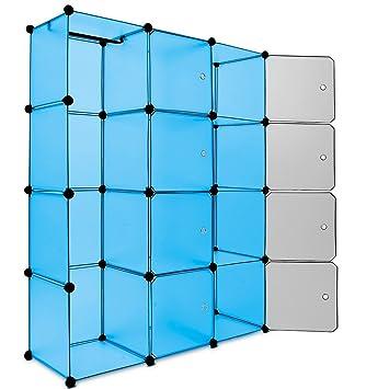 Steckregalsystem kleiderschrank  Regalsystem 12 Boxenfächer Steckregal Kleiderschrank DIY Garderobe ...