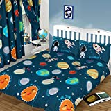 Solar System Space Rocket Single Duvet Cover and Pillowcase Set by Solar System
