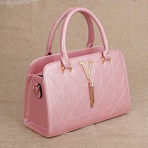 XWAN-Señoras Bolso Bolso de Hombro de moda la Sra.,azul Pink