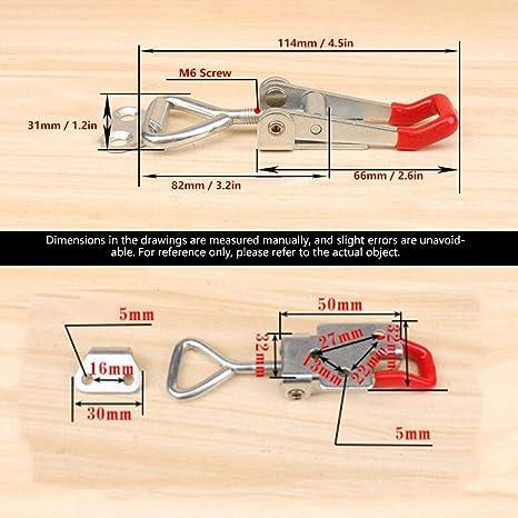 Amazon.com: Liukouu Carbon Steel Shaped Lever Toggle Clamp ...