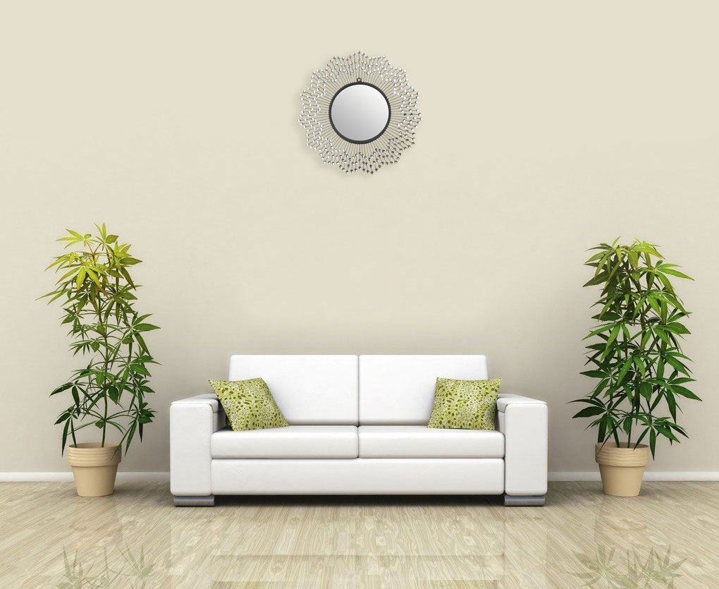 LuLu D cor, Celebration Metal Wall Mirror, Frame 24 , Round Decorative Mirror for Living Room and Office Space