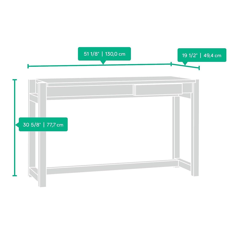 Sauder 415010 Soft Modern Desk, L 51.18 x W 19.45 x H 30.59 , Pale Oak finish