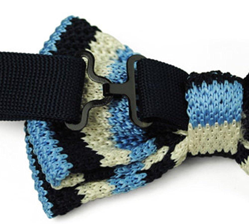 X/&F Mens Vintage Stripes Knitted Pre-Tied Bow Tie Boys Fashion Bow Ties