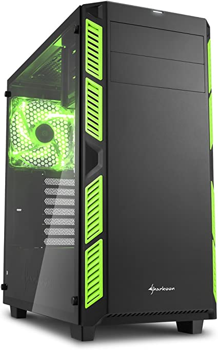 Sharkoon ai7000 Window - Caja de Ordenador, pc Gaming, semitorre ATX, Verde.: Sharkoon: Amazon.es: Informática
