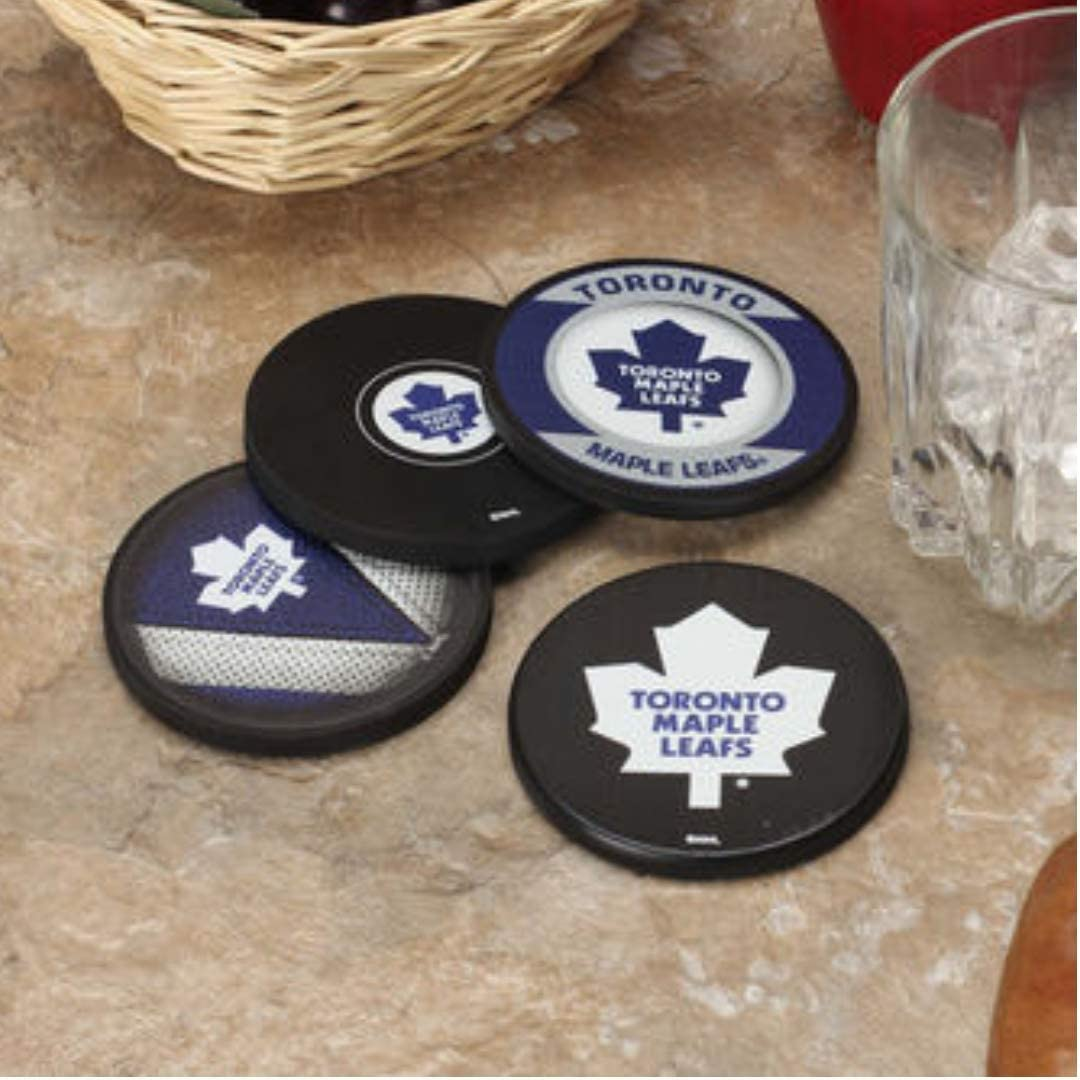 Sherwood Hockey Toronto Maple Leafs NHL Official Puck Coaster 4 Pack