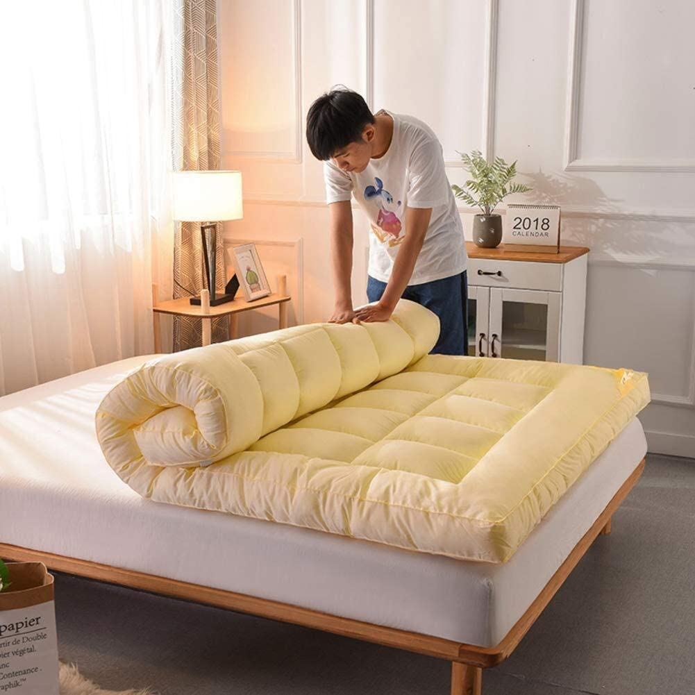 CVNJSKDKH Cuscino for Dormire Hotel Topper di Alta qualit/à Color : A, Size : 90x190x10cm Tappetino futon Pieghevole in Memory Foam