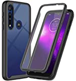 ONOLA Designed for Moto G8 Play Case, Moto One Macro Case (2019),Three Defense Built-in Screen Protector Crystal Clear Full Body Shockproof Slim Fit Cover for Motorola Moto G8 Play Phone