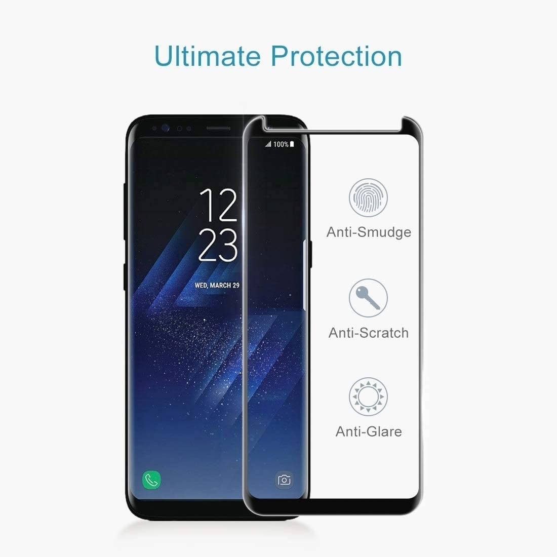 JIANGNIUS Screen Protector 25 PCS Soft Hydrogel Film Full Cover Front Protector with Alcohol Cotton Scratch Card for Galaxy S8 Plus