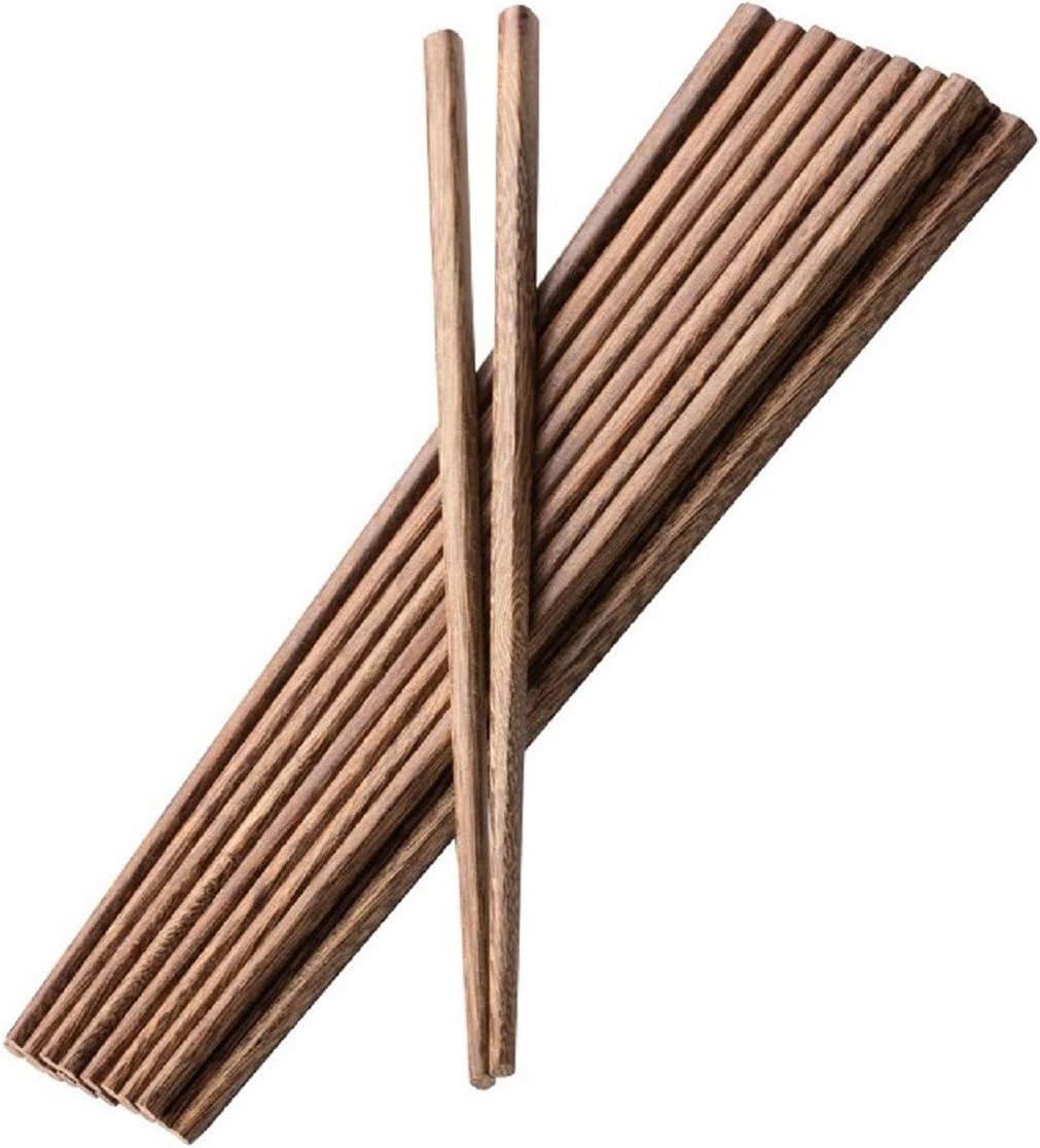 Wiederverwendbare Essst/äbchen 10 Paar Essst/äbchen aus Holz 24 cm sp/ülmaschinenfest