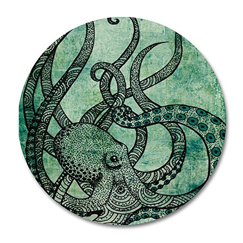 Octopus circular Mouse pad by Smooffly,Gorgeous Cool Octopus Color Printed Mousepad Round Non Slip Rubber Mouse pad Gaming Mouse Pad … - Stores Gift Cool