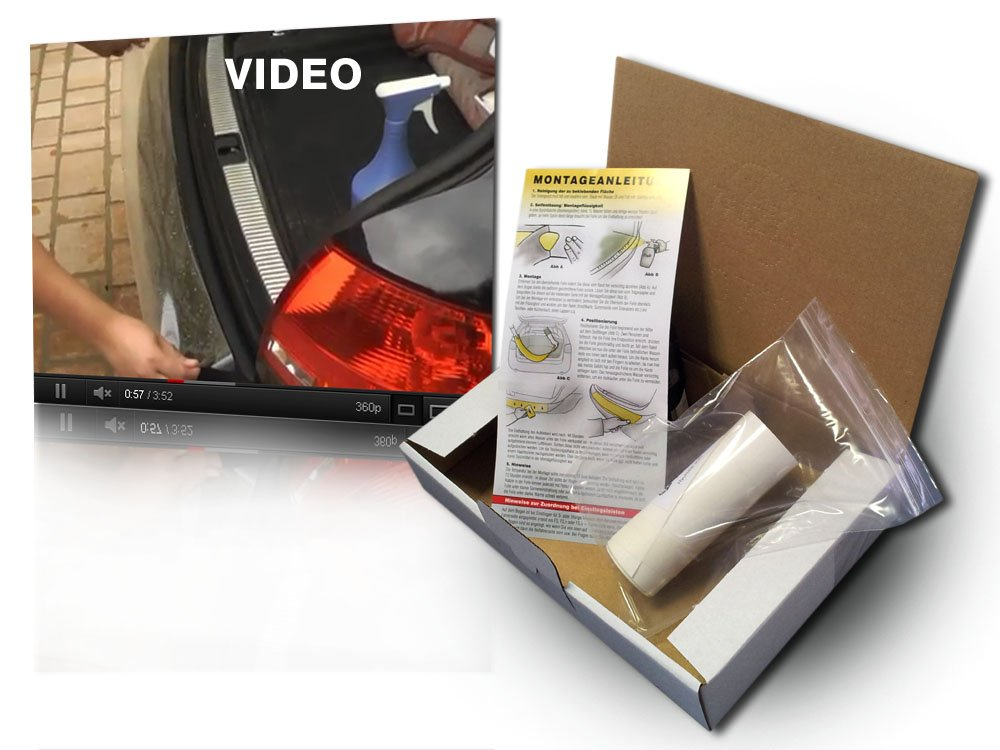 transparent 150/µm Lackschutzshop Einstiege Lackschutzfolie f/ür T/üreinstiege im Set