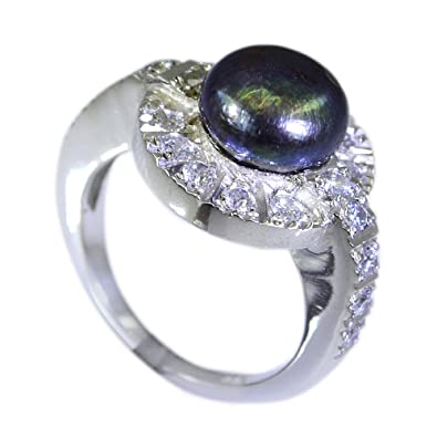 Gemsonclick Natural Pearl 925 Sterling Silver Fabulous Halo