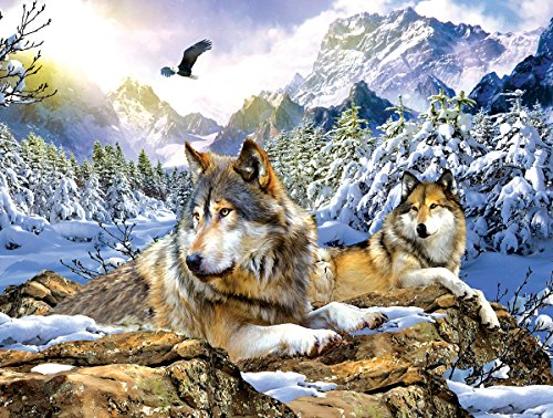 Snow Wolf 500 Piece Jigsaw Puzzle by SunsOut