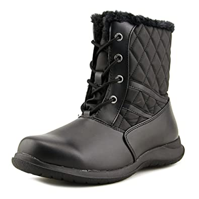 Crystal Round Toe Synthetic Winter Boot