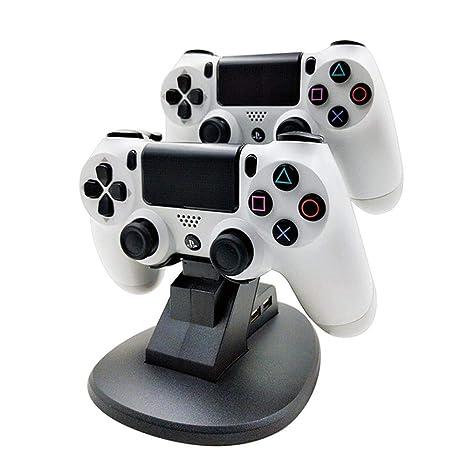 Teepao Cargador para Mando PS4 Dock Dual estación de Carga Soporte ...