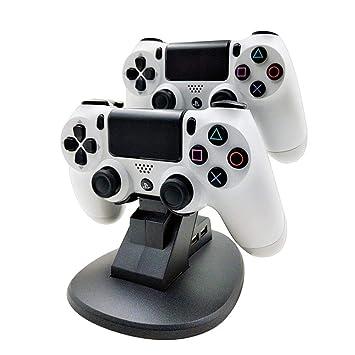 Teepao Cargador para Mando PS4 Dock Dual estación de Carga ...