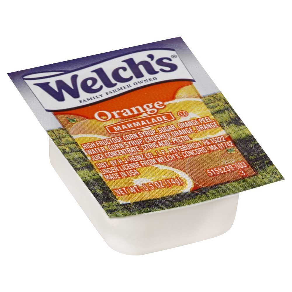 Portion Pac Welchs Orange Marmalade, 0.5 Ounce - 200 per case.