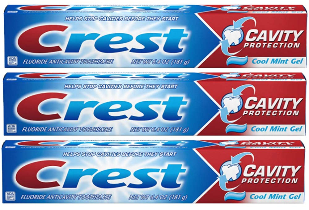 Crest Toothpaste Gel Cool Mint 6.40 oz (Pack of 3)