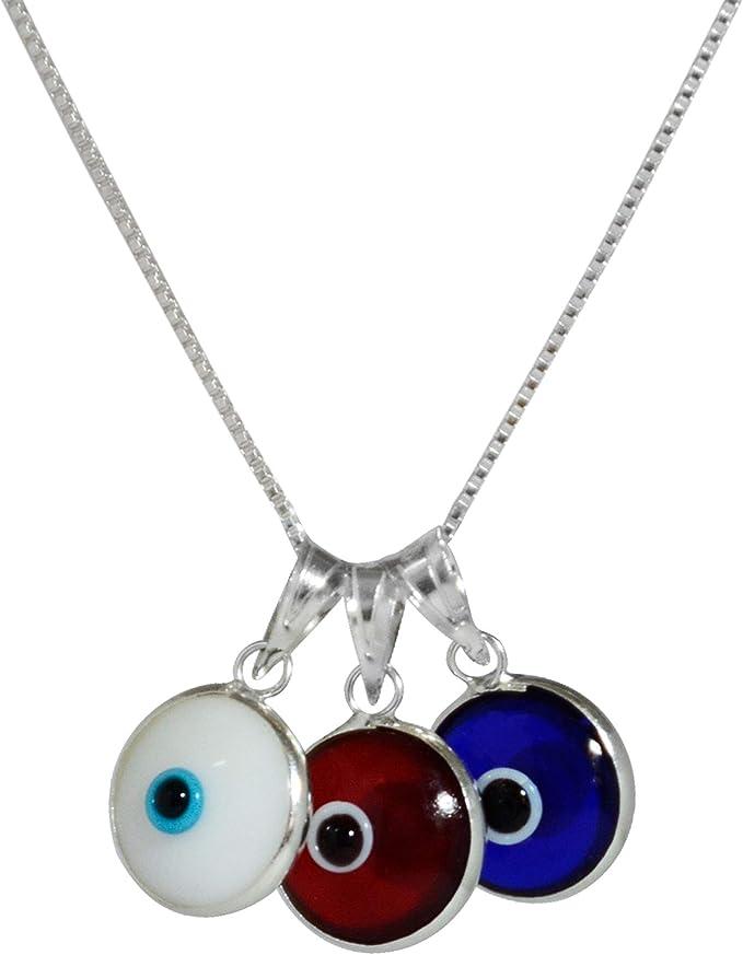 Amazon.com: MIZZE - Collar de plata de ley 925 con colgante ...