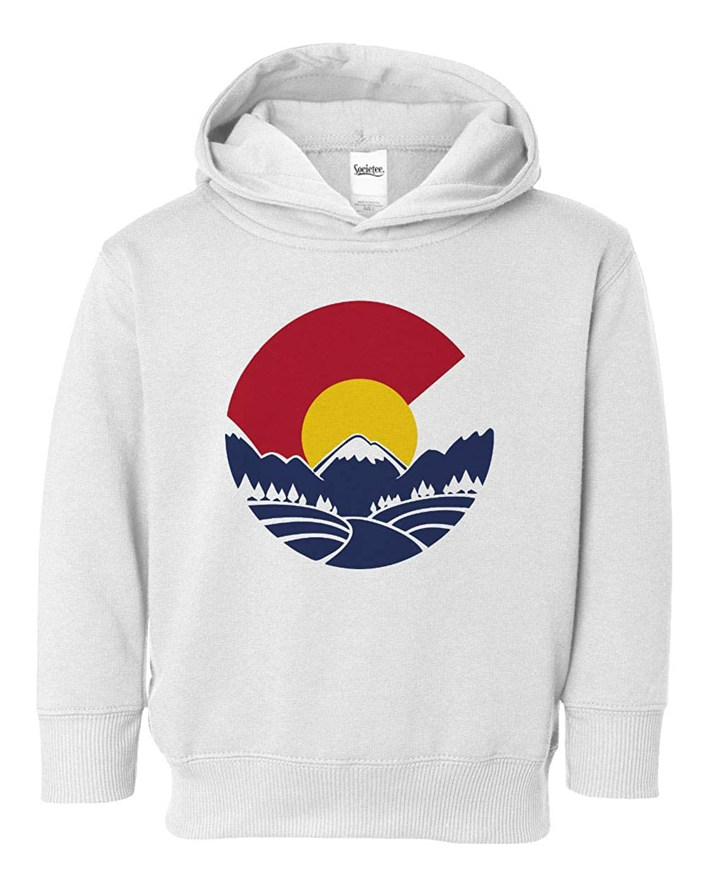 Societee Colorado Mountain Girls Boys Toddler Hooded Sweatshirt