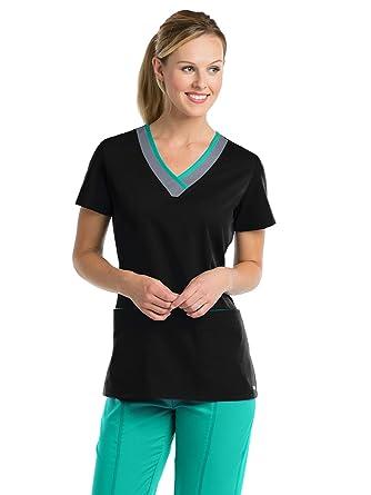 57cbfa90ba1 Amazon.com: Grey's Anatomy Active 41399 Top: Medical Scrubs Shirts: Clothing