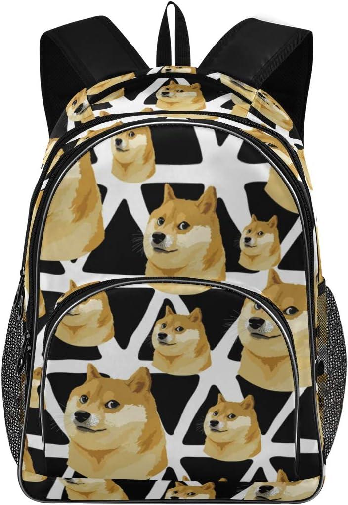 Briefcase Messenger Shoulder Bag for Men Women College Students Business People O Laptop Bag Cute Funny Cartoon Dogs Shiba 15-15.4 Inch Laptop Case
