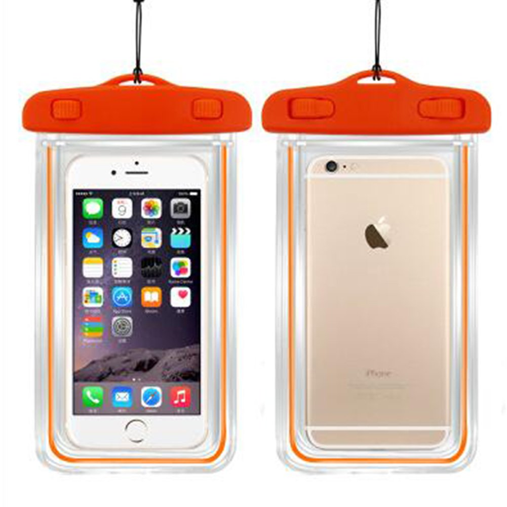 Lisli Universal Waterproof Case,Dry Pouch Bag for iPhone 6S,6,6S Plus,Samsung Galaxy S7,S6 Edge, S6, S5, S4,Note 5, 4, HTC, LG,Nokia up to 6.0'' (Orange)